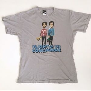 Tops - Flight of the Conchords Gray Graphic T Shirt